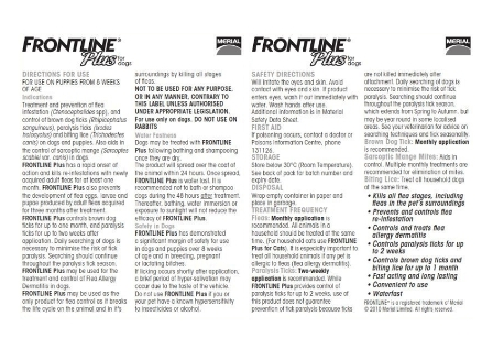 Frontline Plus Dog Pack Insert 001