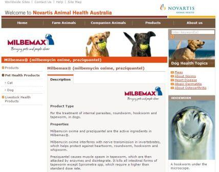 Milbemax Dog Website