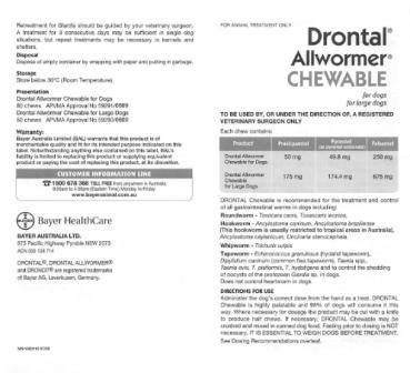 Drontal Chewable Pack Insert 001