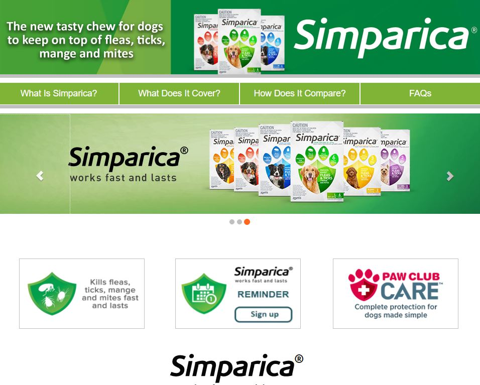 Simparica Website
